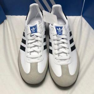 Adidas Samba white/black/gum size 5 6.5 7